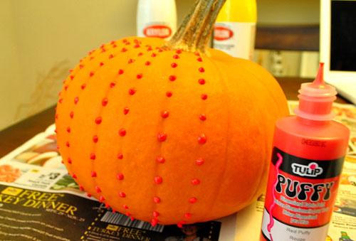 Dripping Paint Pumpkin