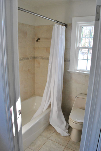 Hanging Our Shower Curtain Higher (Ah, Much Better) | Young House Love