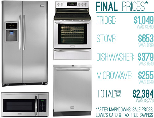 lowes kitchen stoves antiquing cabinets how we saved money 63 off on our appliances young house love