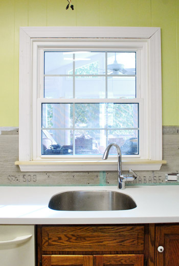 home depot kitchen layout sink vent adding toe kicks & a window sill | young house love