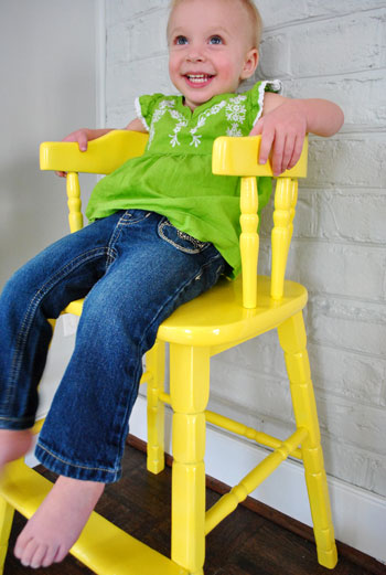 old high chair ideas hanging urban updating an wooden highchair young house love