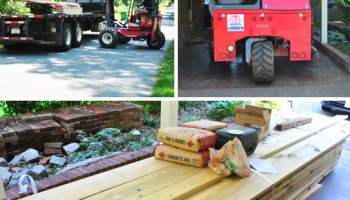 How To Build A Deck: Making Our Post Holes | Young House Love