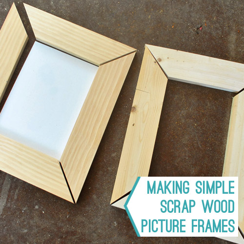 Making Simple Scrap Wood Picture Frames | Young House Love