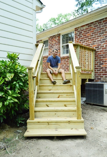 How To Build A Deck It S Done Young House Love | Diy Deck Stair Railing | Easy | Outdoor | Aircraft Cable | House | Simple