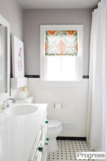 Hall Bathroom Walls: Elephant Gray By Benjamin Moore In A Bathroom Friendly  Satin Finish.