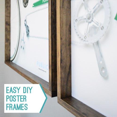 making easy wood frames for large art