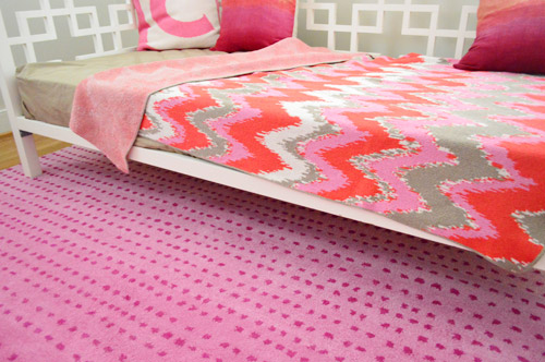 A Fun Pink Polka Dot Rug For The Playroom Young House Love