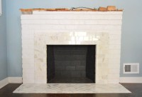 Fireplace Makeover: Tiling The Mantel With Marble ...