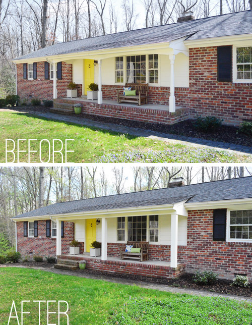 How we boxed out our old curvy porch columns young house love after one coat plus some touch ups we were done and as you may remember from the start of this post there was some rejoicing solutioingenieria Choice Image