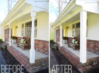 How We Boxed Out Our Old Curvy Porch Columns | Young House ...