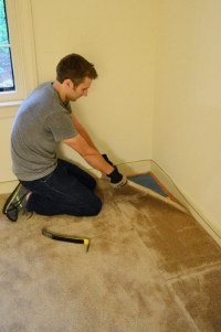 How To Remove Carpet (Video & Photos) | Young House Love
