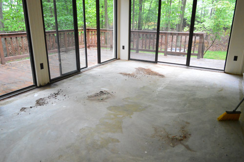 How To Remove Indoor Outdoor Carpet Glue From Concrete