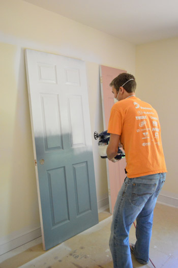 How to spray paint interior house trim for How to spray paint doors