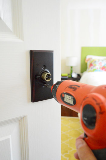 Like Many DIY Projects, Adding The New Knobs Was A Bit More Complicated  Than We Anticipated. The Latch Assembly Was Bigger Than The Existing Holes  In Our ...