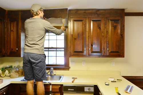 kitchen cabinet spacing best water filter system removing some cabinets & rehanging one | young ...