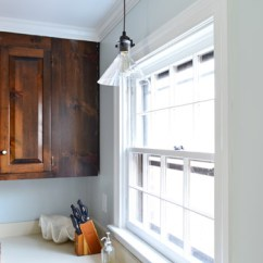 Replace Fluorescent Light Fixture In Kitchen Do It Yourself Cabinets How To Lighting With A Pendant Young House Love