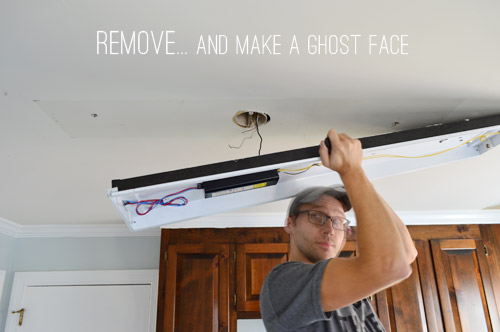Replacing Fluorescent Light Fixture Led