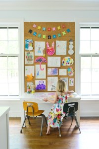 How To Make A Giant Cork Board Wall For Kid Art | Young ...