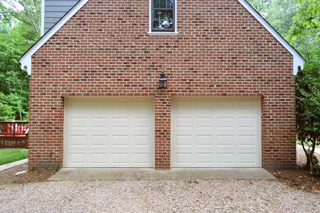 Door Brick Garage Black
