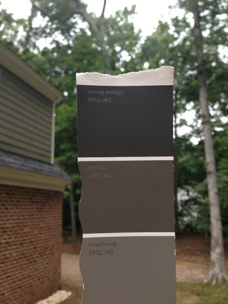 The Paint Color We Chose Was Urbane Bronze By Sherwin Williams, Which Was  The Darkest Color On The Same Swatch As Our Siding Color (Anonymous) Which  Pretty ...
