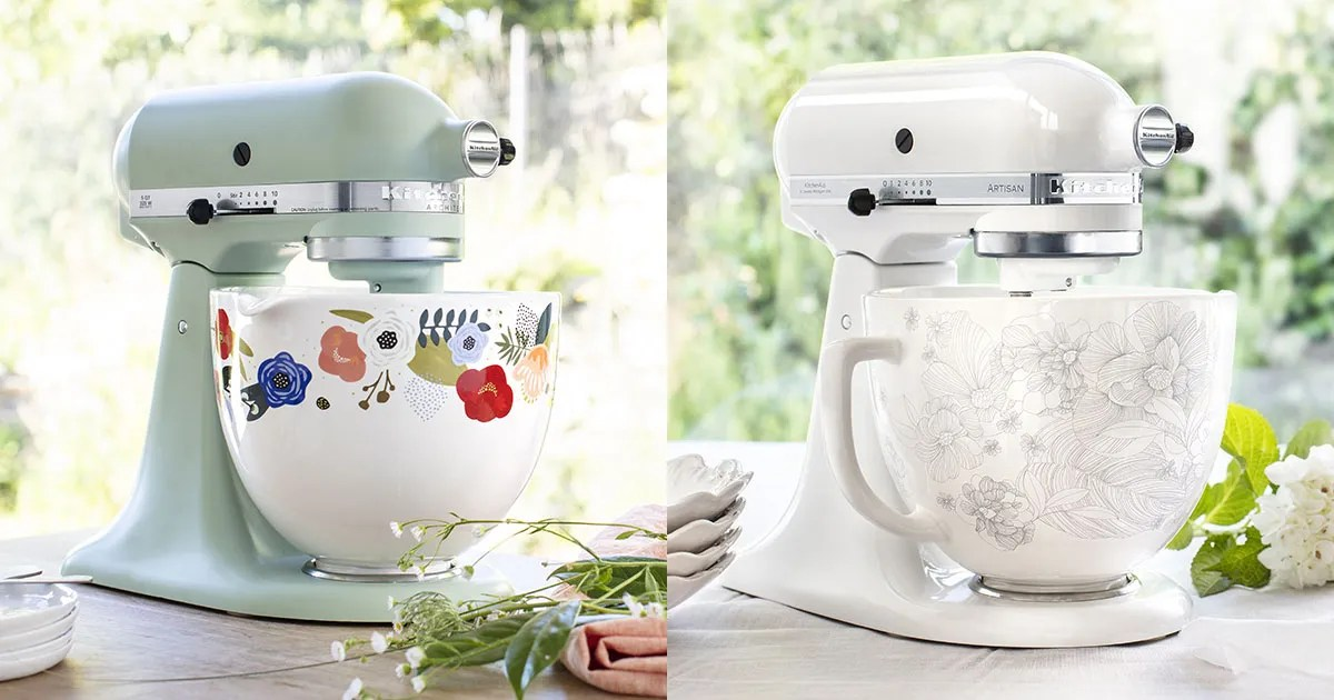 New KitchenAid Ceramic Bowls to Match Colorful Stand Mixer