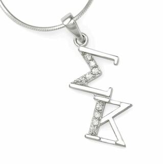 Sigma Kappa Sterling Silver Lavaliere Pendant with