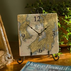 Kitchen Cabinets Cape Coral Table With Storage Underneath 8-inch Marble Nautical Map Clock - Customize Your ...