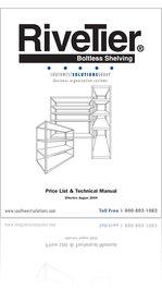 Read Rive Tier Boltless Shelving Price List & Technical