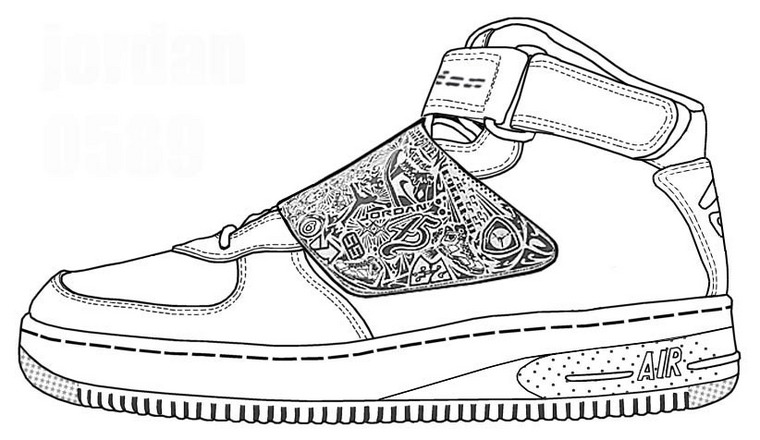 Shoe Coloring Pages Nike