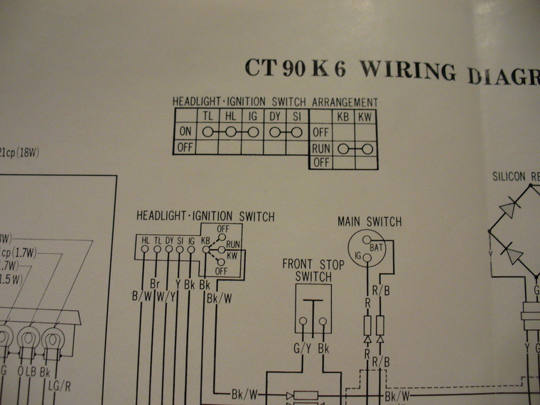 rectifier wiring diagram activity on arrow example 1971 ct90 electrical system stator u0026 honda trailct90