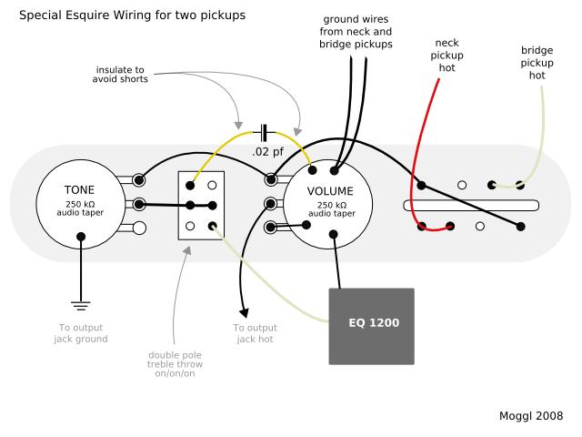 wiring diagrams esquire guitar 4 way