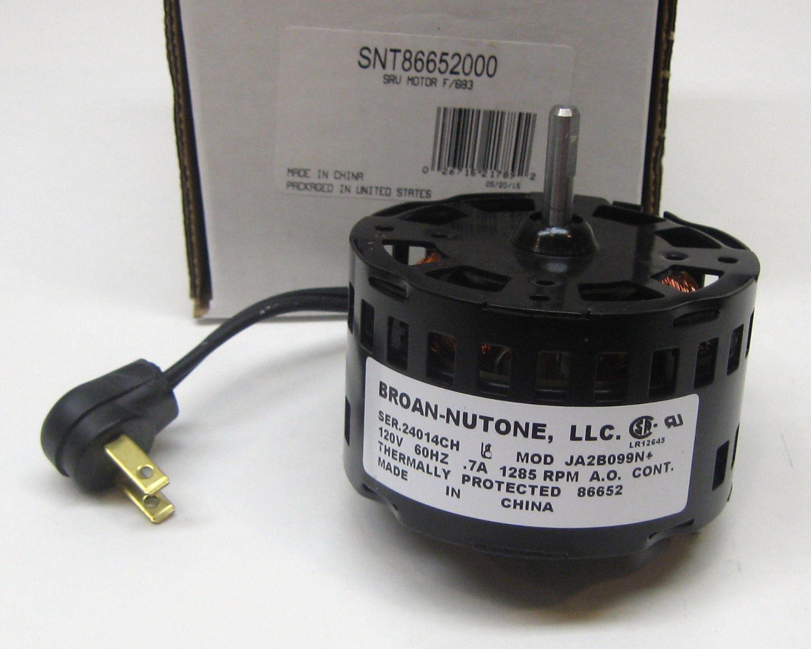 details about broan nutone bathroom exhaust vent fan motor 86652000 ja2b099n 86652