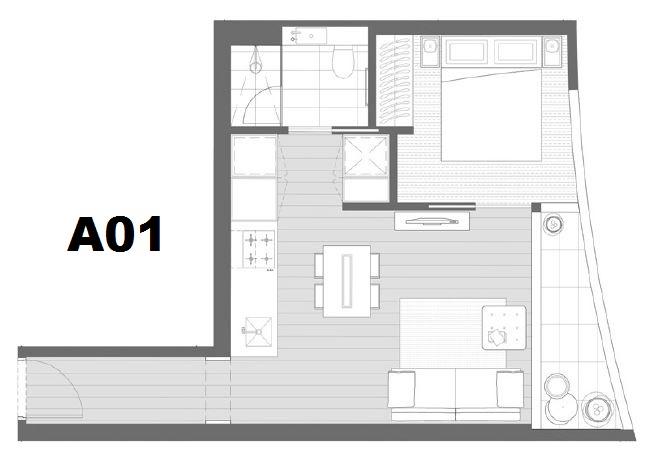 Ironfish Real Estate :: 1112/135 Abeckett Street