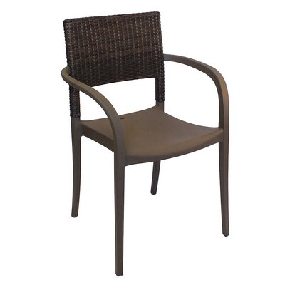 plastic resin chairs bamboo dining australia outdoor furniture zesco com grosfillex us926002 java stackable armchair faux wicker back choose color must buy in multiples of 16 polypropylene with synthetic