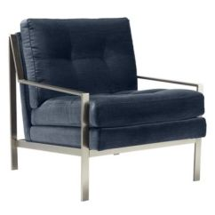 Accent Chair Blue Rio Gear Backpack Chairs Luxurious Living Room Z Gallerie Axel Brushed Silver