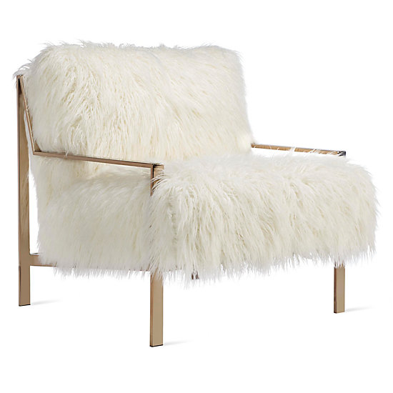 Axel Fur Accent Chair  Axel Sequoia Entryway Inspiration