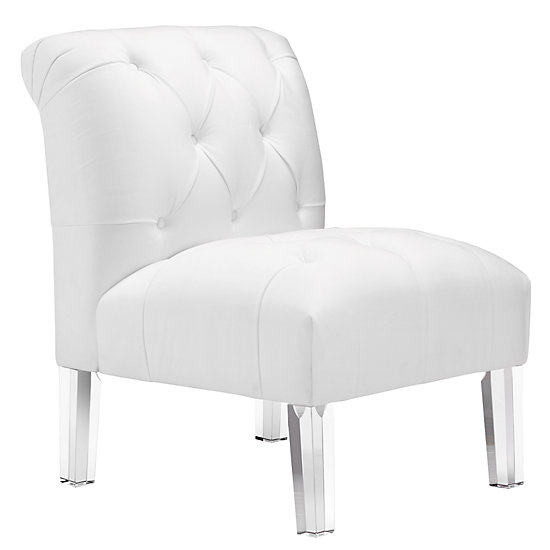 white tufted chair primitive pads eliza z gallerie