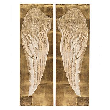 Angel Wings Heart Shower Curtain