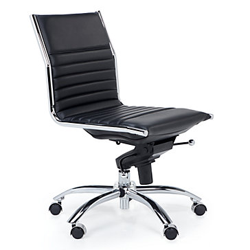 aqua desk chair bergere chairs for sale malcolm armless black jett white office inspiration z gallerie