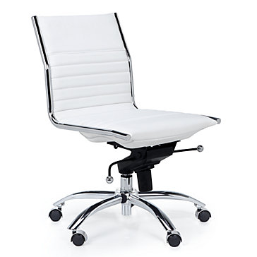 modern white desk chair toddler table and chairs argos ireland office malcolm armless z gallerie