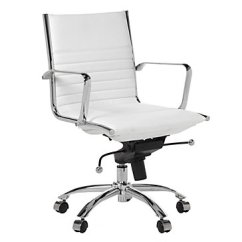 Desk Chair Home Office Ergonomic Drafting Chairs Malcolm White Furniture Z Gallerie