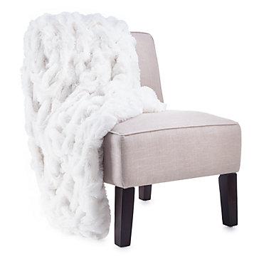 oslo white throw blanket