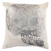 "Sugar Skull Pillow 22"" | Throw Pillows | Bedding and ..."
