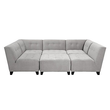 6 piece modular sectional sofa sofas feather and black vendome z gallerie