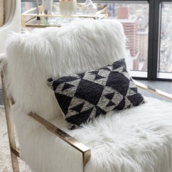 Z Gallerie Office Chair Bar Stool Raisers Makeover Cosmopolitan The Axel Fur And City Pillow