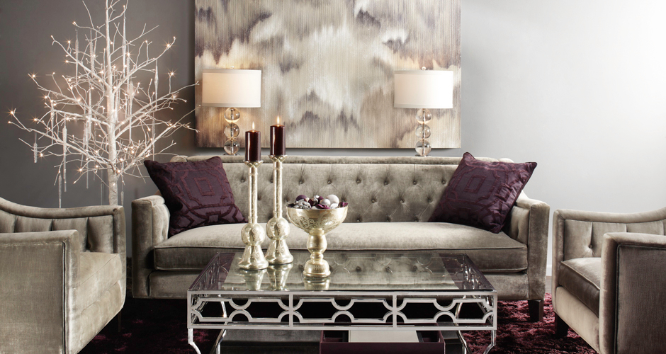 glam sofa set light brown tufted living room inspiration | edmond z gallerie