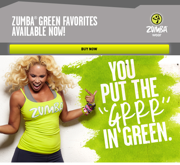 Zumba Green Favorties Available Now!