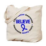 ColonCancerBelieve Tote Bag