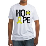 Bladder Cancer Hope Fitted T-Shirt