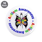 "Autism FaithLoveCure 3.5"" Button (10 pack)"